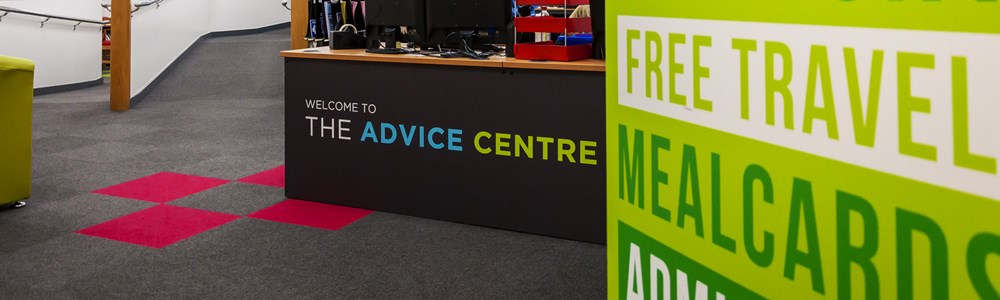 Photo of Heart of Worcestershire College's Worcester Advice Centre desk