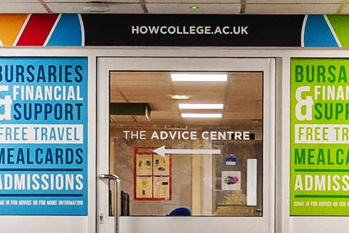 Interior of Heart of Worcestershire College Worcester advice centre