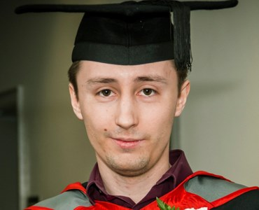 Male student in graduation cap