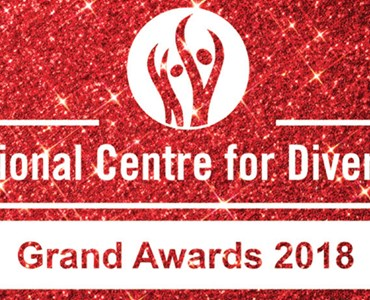 Red logo for National Centre for Diversity Grand Awards 2018