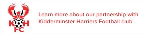 Learn more about our partnership with Kidderminster Harriers Football Club