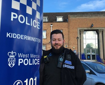 Former HoW College student makes his mark at West Mercia Police!