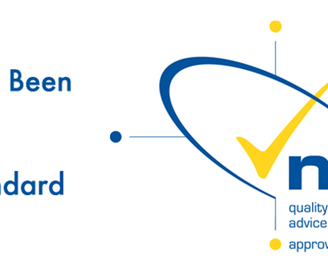 Matrix accreditation logo in blue and yellow with text reading 'We have again been awarded the Matrix standard'