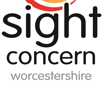 Colourful logo reading: sight concern worcestershire